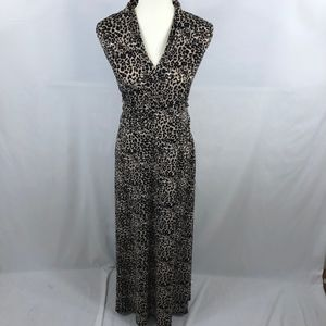 Vince Camuto Leopard Print Maxi Dress Plus Size 2X